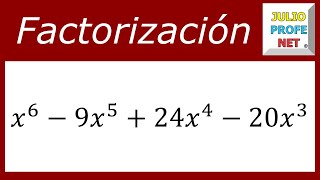 FACTORIZACIÓN POR EVALUACIÓN (USANDO DIVISIÓN SINTÉTICA) - Ejercicio 2