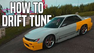 How to tune a drift car in Forza horizon 4 ( suspension set up / diff tuning / gear tuning )