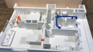 Ventilatie systeem voor portiekflat, tbv Mitros Challenge, installatie in 1 dag.