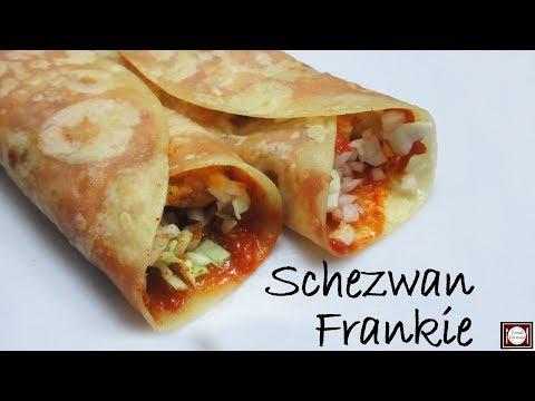 शेज़वान फ़्रैंकिए बनाये एकदम आसान तरीके से | Schezwan Frankie Recipe in Hindi |Schezwan Frankie Recipe