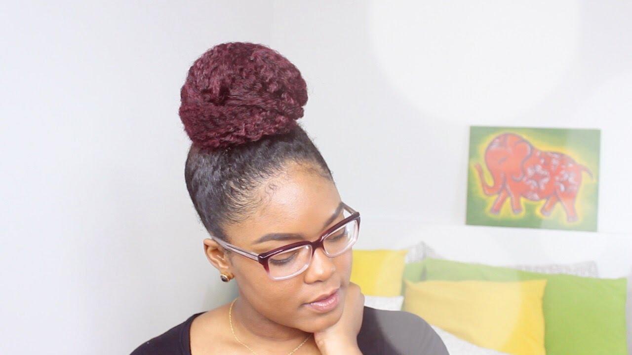 Natural Hair | The High Bun - YouTube