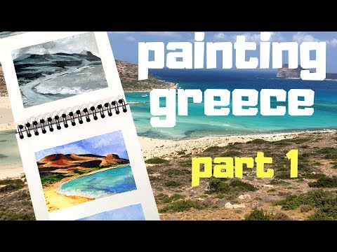 Landscapes in Acrylics – Painting Greece part 1
