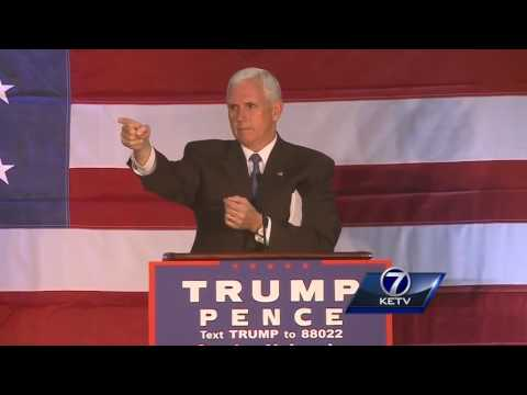 Full video of Mike Pence's remarks at Omaha rally