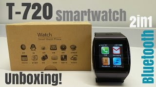 T-720 Smartwatch 2in1 Sim Card Support & Bluetooth for iPhone & Android - Unboxing!