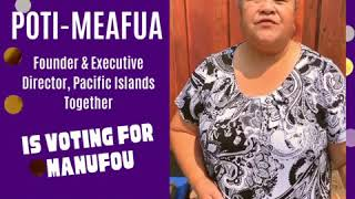 Rowena Poti-Meafua Votes Manūfou for Jefferson Elementary School District School Board!