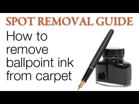 How to get ink out of Carpet - Ballpoint Ink | Spot ...