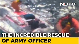 Video Of Abhilash Tomy's Precarious Rescue, Injured And Stranded At Sea thumbnail
