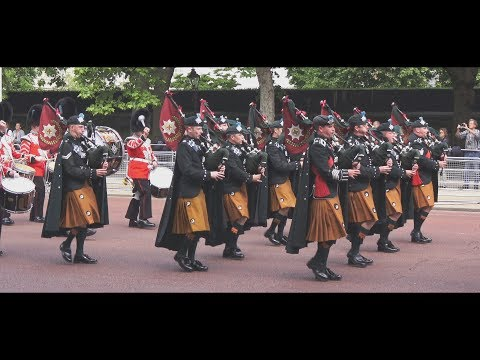 Foot Guards march along The Mall [2017] to The Major General's Review