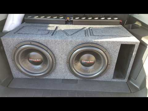 American Bass XFL 12 Flexing, American Bass SQ 6.5 Carbon Fiber,  AudioPipe Amp