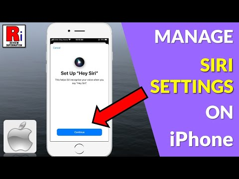 HOW TO MANAGE SIRI SETTINGS IN IPhone
