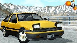 Легенда ЯПОНИИ Toyota Ae86   Beamng Drive