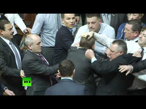 Parliament Punch: Fight erupts between Ukrainian MPs