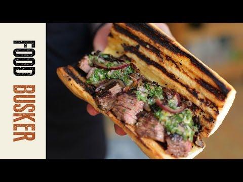 Steak Sandwich Brazilian Style | Food Busker