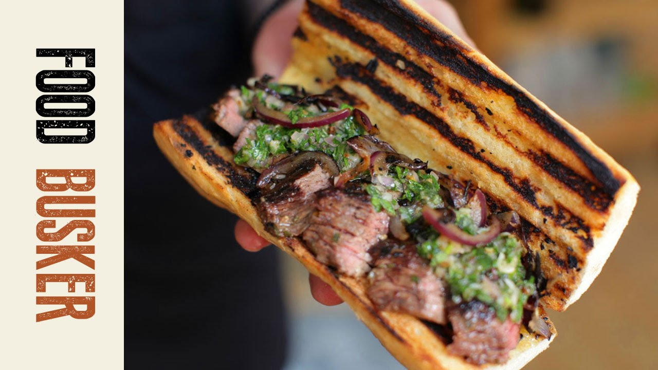 Steak Sandwich Brazilian Style | Food Busker