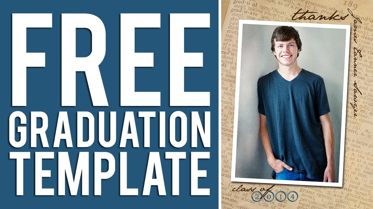 Free graduation templates tutorial photoshop elements for Senior announcement templates free