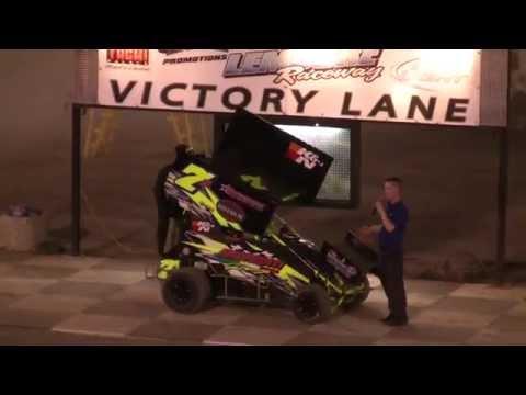Lemoore Raceway 7-26-14 Jake Andreotti Micro Sprint Win