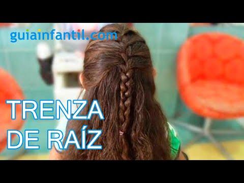 C mo hacer una trenza de raiz peinados para ni a youtube - Peinados para hacerse una misma ...