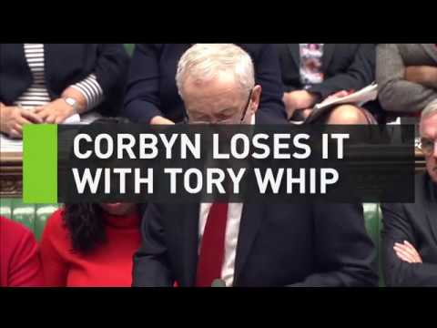 Corbyn loses it with Tory whip during Budget 2017