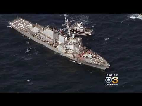 Search For Missing Sailors After USS Fitzgerald Collision