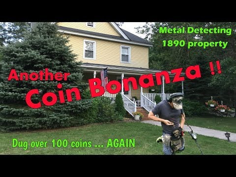Coin Diggin' Bonanza - Metal Detecting an 1890 permission for old coins, silver, and more