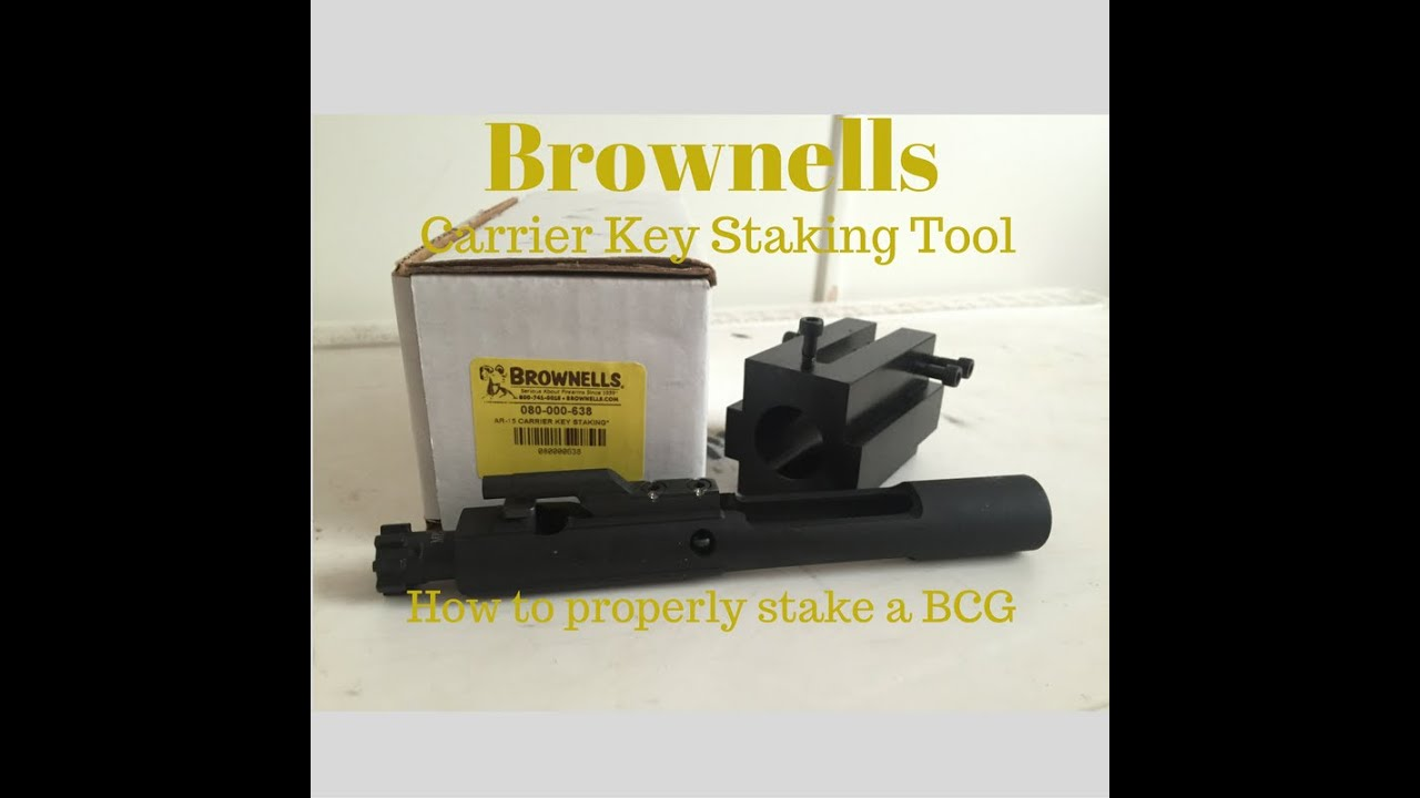 Properly Staking a BCG Gas Key / Brownells Carrier Key Tool