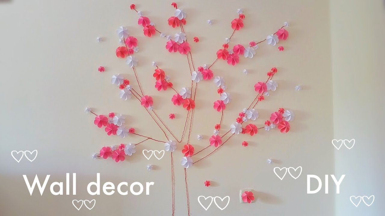 🌳3D Wall Decor. 🌳Paper Tree Craft. Room Decor DIY.🌳 Wall Craft.