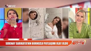 Serenay Sarıkaya'nın bornozlu pozu sosyal medyayı salladı