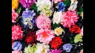 Фотозона на свадьбу. Пресс-волл из искусственных и бумажных цветов