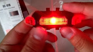 Unboxing & Review NEW Water Resistant USB Rechargeable LED Bike Tail Light Red