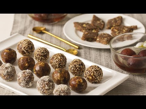 2 INSTANT & AMAZING Indian Sweet Recipes   Under 30 Minutes   Dates & Nuts Ladoo   Ragi Barfi