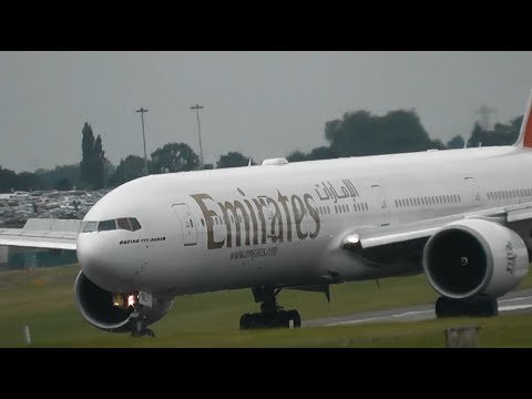 1 HOUR+ of plane spotting at Birmingham int'l airport, BHX (Incl. Emirates)