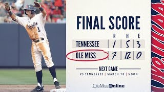HIGHLIGHTS   Ole Miss defeats Tennessee 7 - 1 (03/17/18) #WAOM #FinsUpRebels