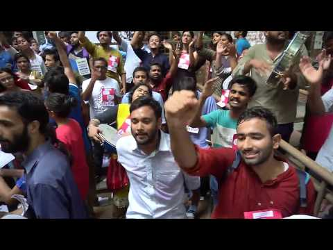 JNUSU Elections 2017-18 : Scenes in front of SSS II,  SIS Old and SL