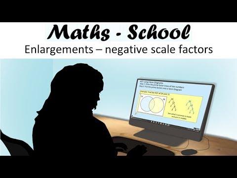 Enlargements with negative scale factors Maths GCSE Revision Lessons (Maths School)