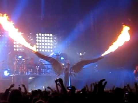 Rammstein Engel Fire Wings Live At Wembley Youtube