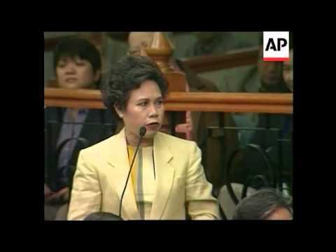 PHILIPPINES: ESTRADA IMPEACHMENT TRIAL: WITNESS