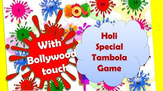 """Satrangi re"" holi special Tambola or housie dividends for ladies kitty party holi game ideas"
