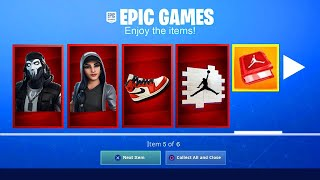 HOW TO GET FREE FORTNITE X JORDAN REWARDS IN FORTNITE! [Downtown Drop Challenges] *NEW*
