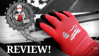 Milwaukee Red Nitrile Dipped Cut Resistant Winter Work Gloves REVIEW! #gloves #toolreviews #ansi