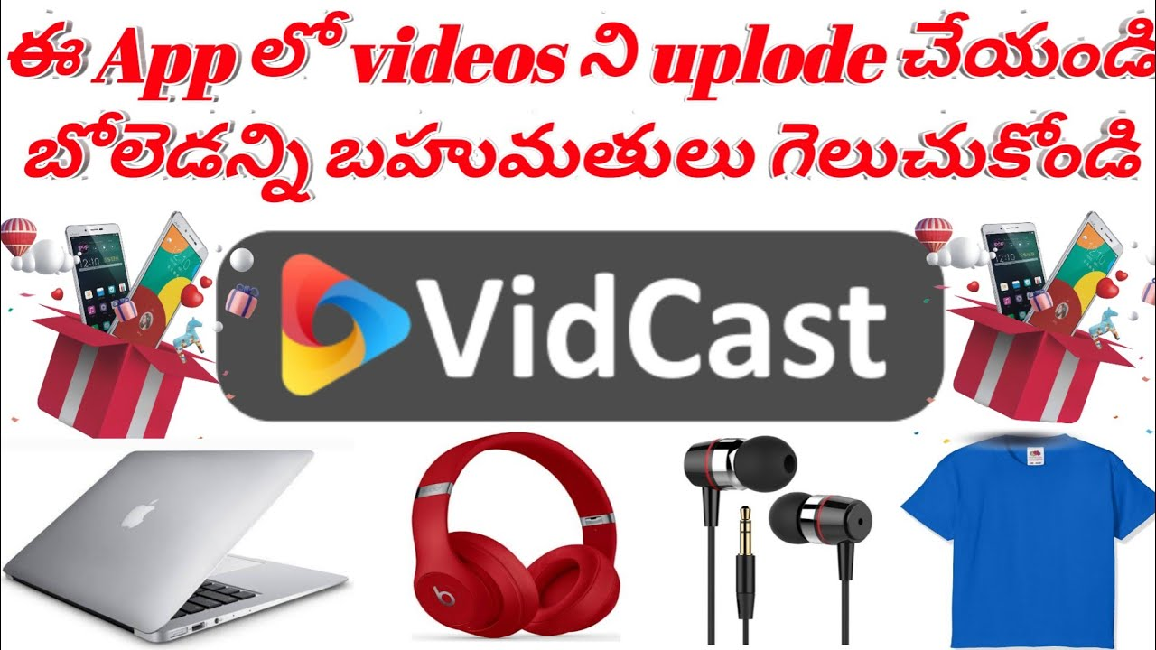 Vidcast App is Best Earning Mobile App || About vidcast in Telugu