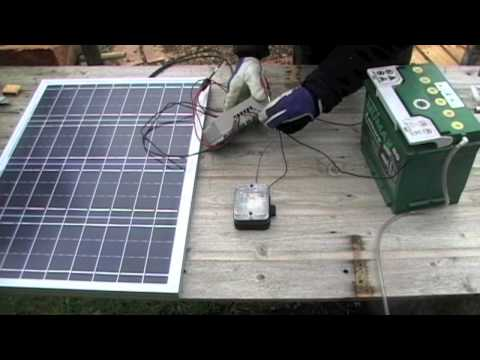 Solar powered shed: 01 Basic solar setup