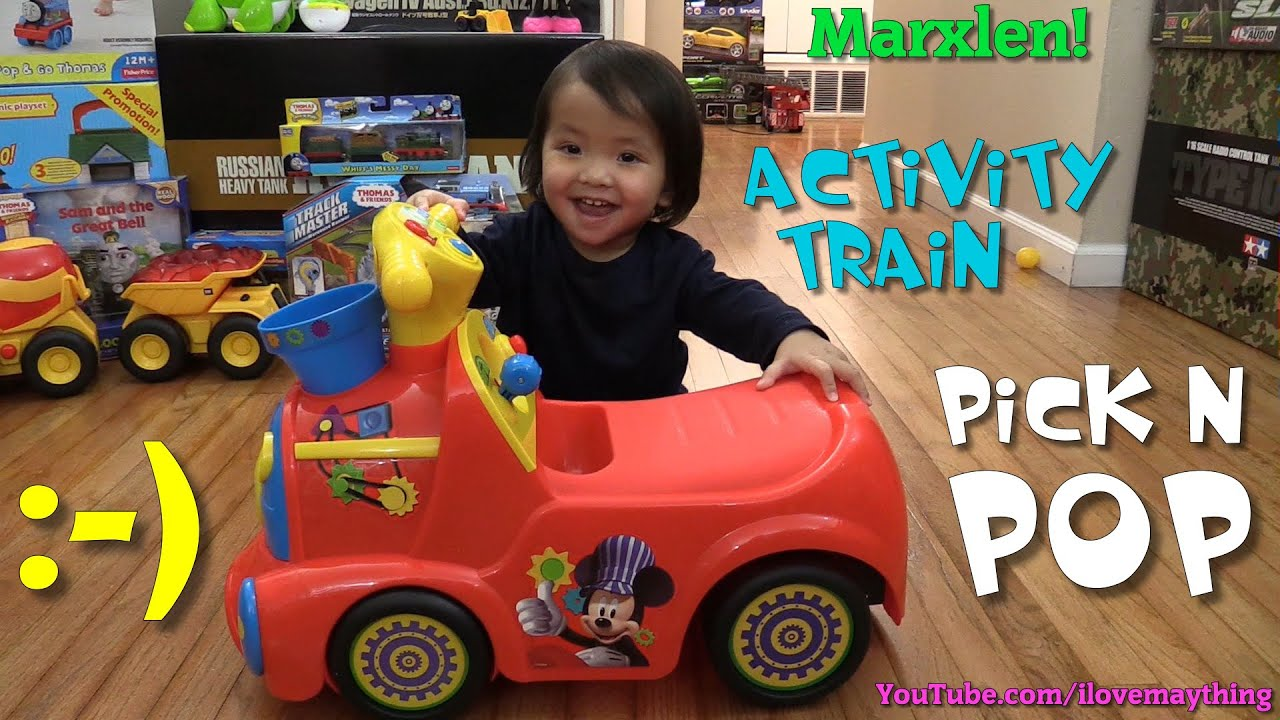Mickey Mouse Clubhouse Ride-On Popping Balls Activity Train - Pick N Pop by Kiddieland - YouTube  sc 1 st  YouTube : mickey mouse clubhouse pop up tent - memphite.com