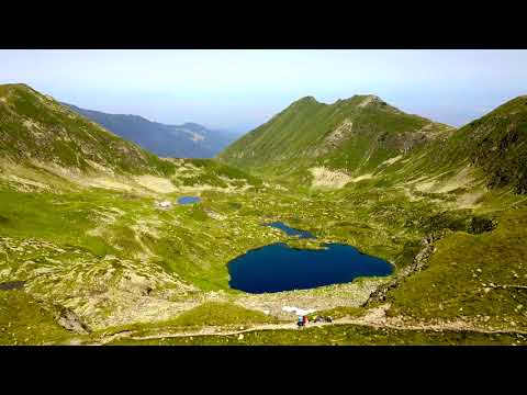 Fagaras Mountains from above - Transfagarasan, Moldoveanu, Balea Lake
