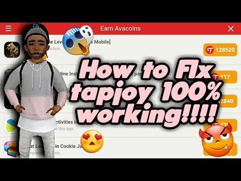 HOW TO FIX TAPJOY!!! AVAKIN LIFE