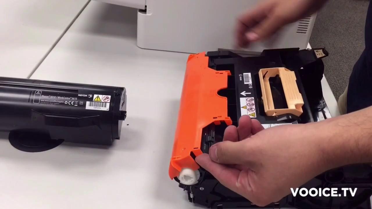 Xerox 3610 Drum Replacement Youtube