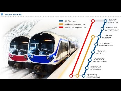 Bangkok Airport Rail Link Video Guide - 2017 (Urdu/Hindi, Subs in eng)