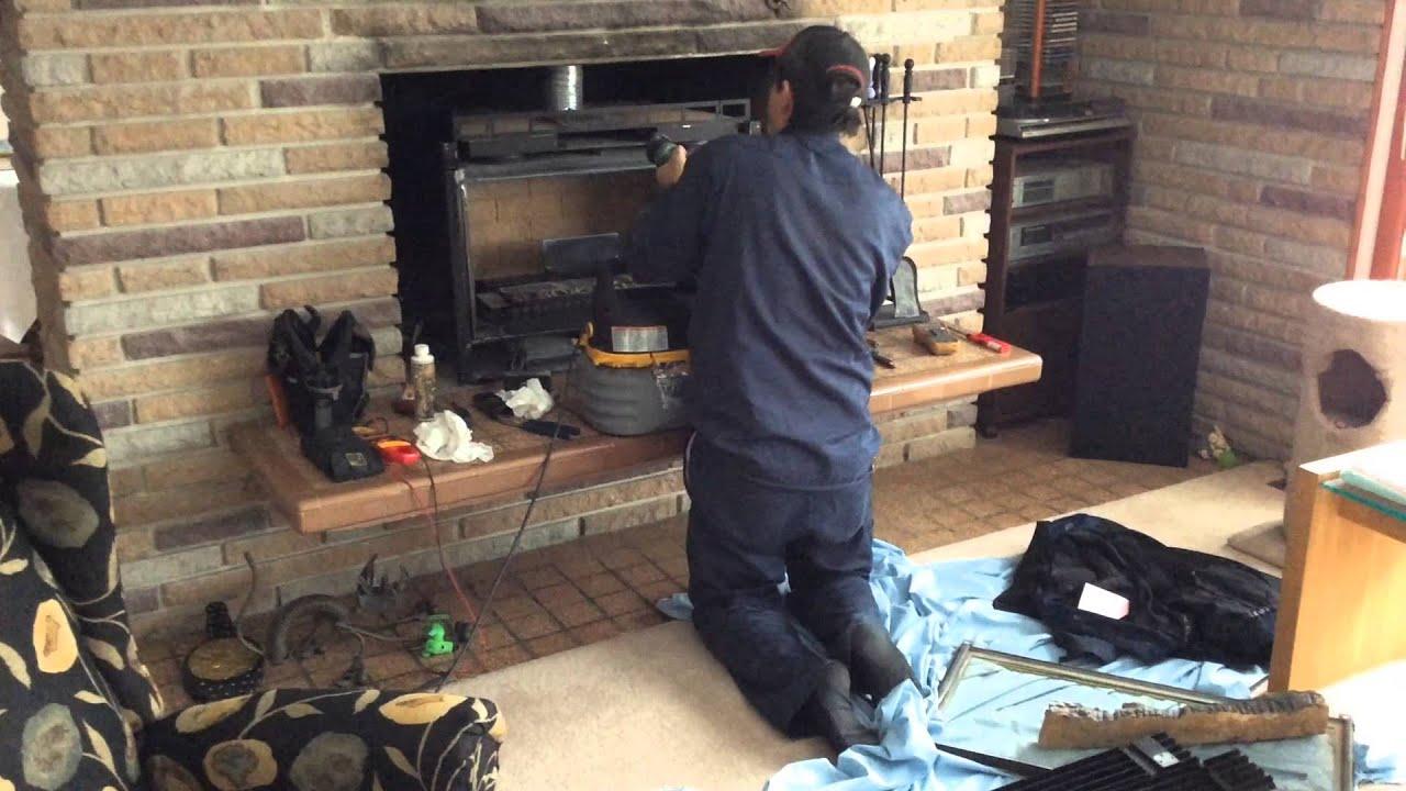 Fireplace Repair Dec 3 2014  YouTube