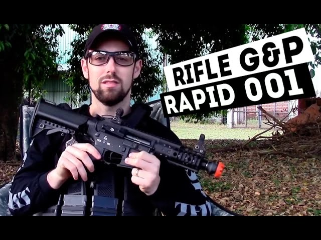 Um rifle sensacional para o CQB: Rifle airsoft G&P RAPID 001 - Airsofts