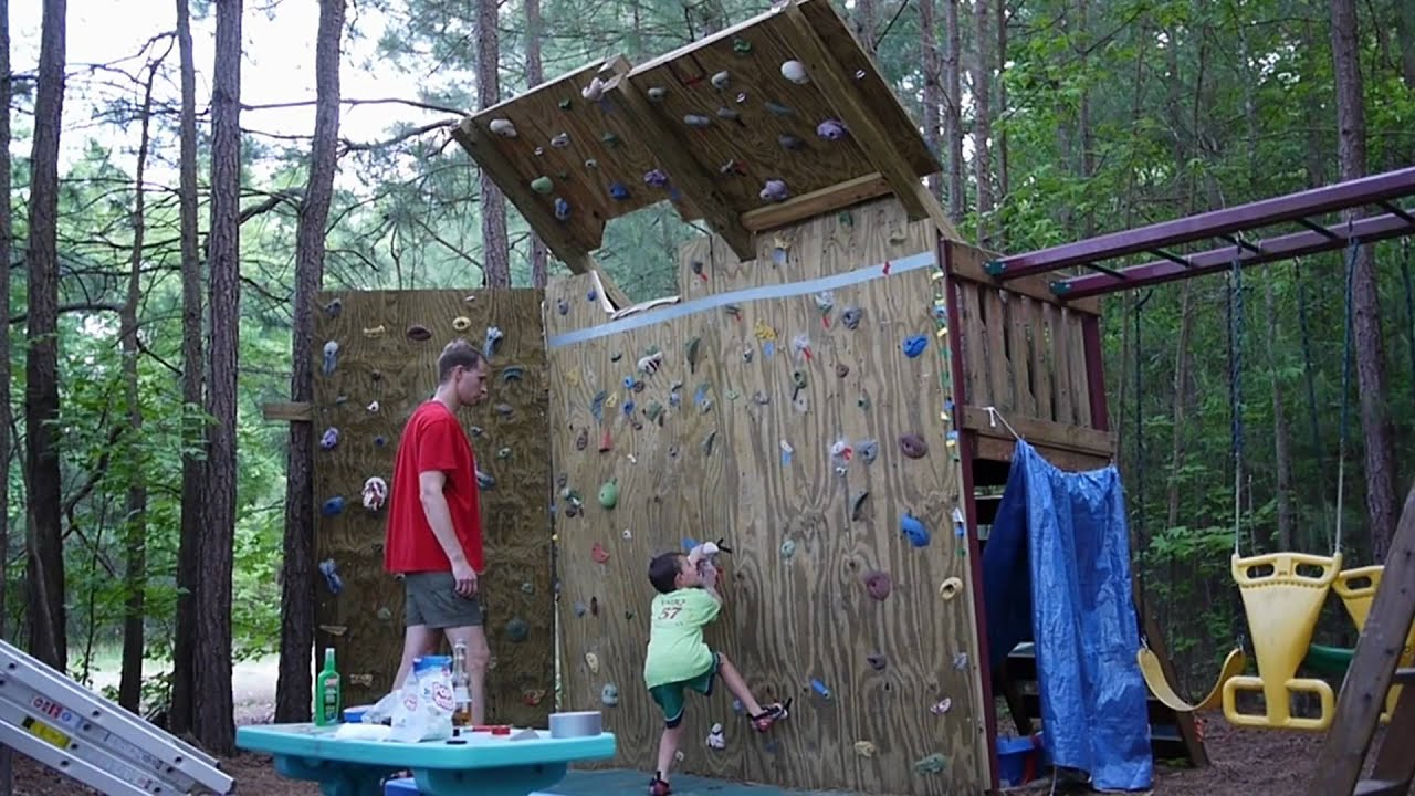 backyard climbing wall youtube