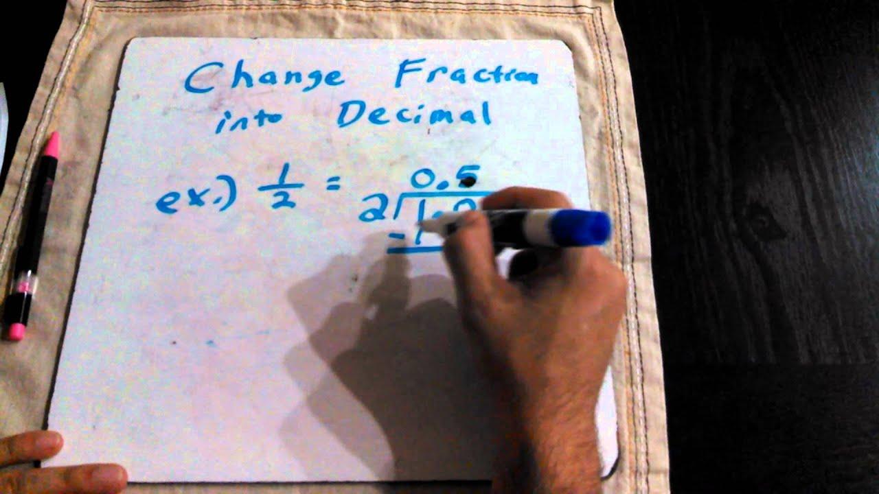 Fraction To Decimal In Spanish